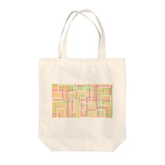 オレンジ四角隊 Tote bags