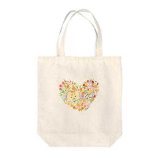 おちびとチャトニャン(ハート) Tote bags