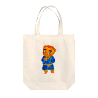 タタどん Tote bags