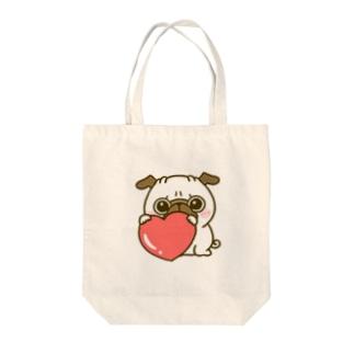 パグちゃん♡ Tote bags