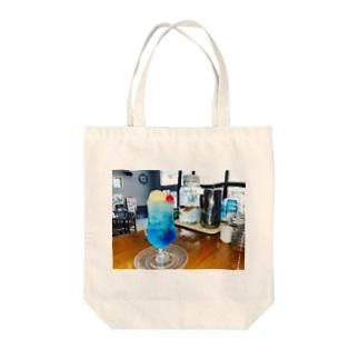 ブルーラムネクリームソーダ(青色フィルタード) Tote bags