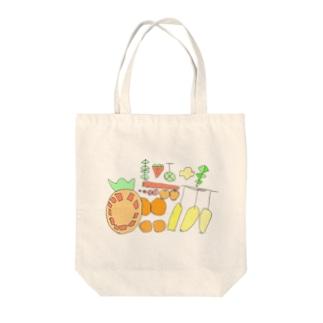 wMoonのフルーツバスケット Tote bags