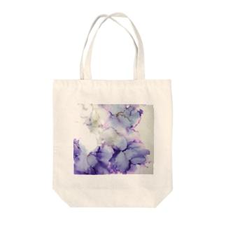 紫の花 Tote bags