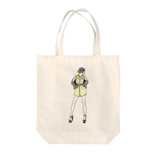 """Yellow"" いけじょファッショニスタ Tote bags"