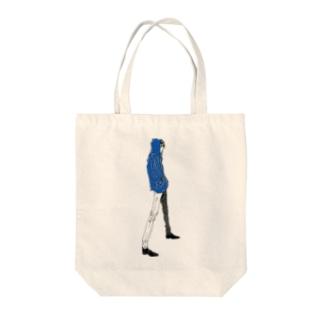 """Blue"" いけめんファッショニスタ Tote bags"