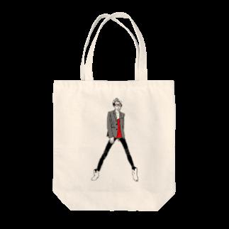 """中村香月の""""Red"""" いけめんファッショニスタ Tote bags"""