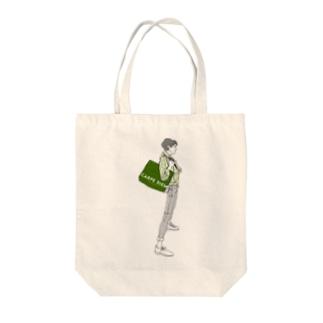 """Green"" いけめんファッショニスタ Tote bags"