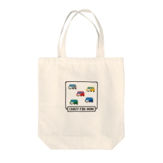 CRAZY_FOR_MINI Tote bags