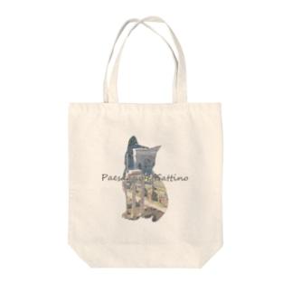 Paesaggio e gatto-Foro Romano Tote bags