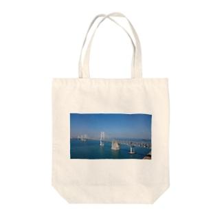 瀬戸大橋 Tote bags