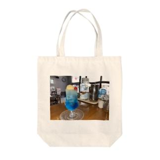 ブルーラムネクリームソーダ Tote bags