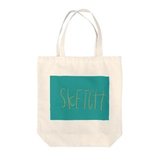 sketch Tote bags