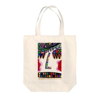 【真顔】エネルギーアート Tote bags