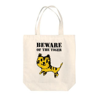 BEWARE OF THE TIGER Tote bags