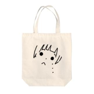 泣いてる女の子 Tote bags