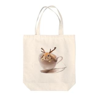 ティーカップ ジャッカロープ Tote bags