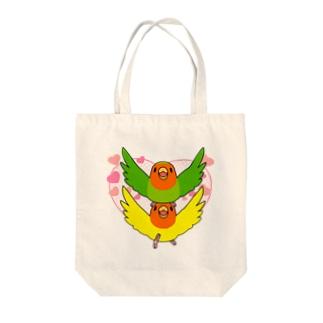 ラブリーコザクラインコ【まめるりはことり】 Tote bags