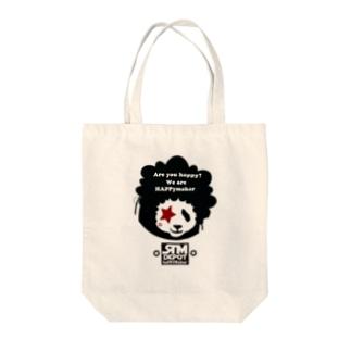 アフロヘアーのパンダ!! Tote bags