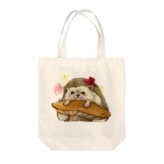 ナミハリネズミ Tote bags