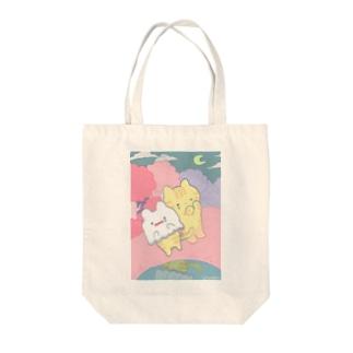 かぶりねこ Tote bags