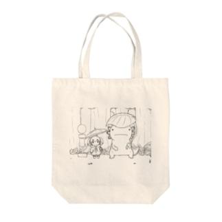 【アクシズ】となりのウーパールーパー(線画) Tote bags