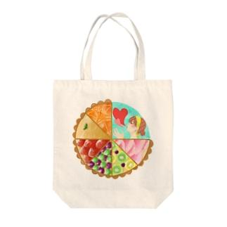 いっぱいタルト Tote bags
