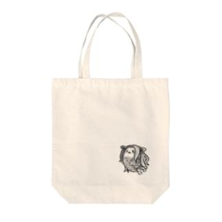 ケヤリーフ アマビエB(墨絵) Tote bags