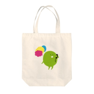 mame でんわする Tote bags