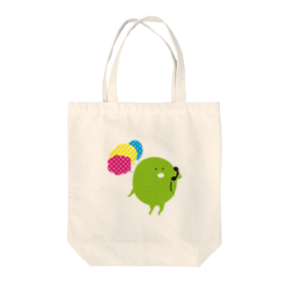 Parafamilyのmame でんわする Tote bags