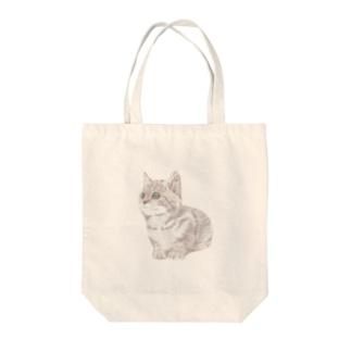 色鉛筆風の猫 Tote bags