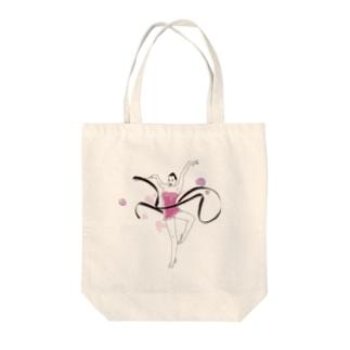 リボンキラキラ女子 Tote bags