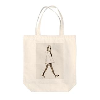 歩く女子高生 Tote bags