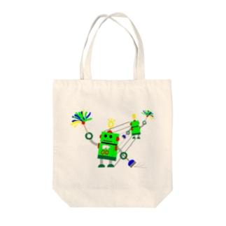 おしかけロボ(おしかけ清掃中) Tote bags