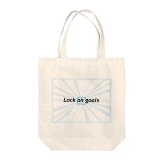 ロックオン Tote bags