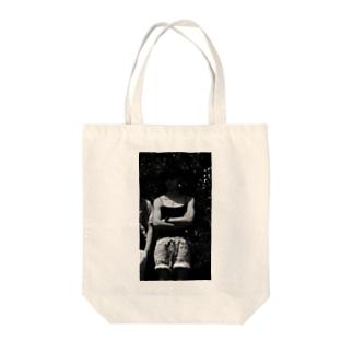 モノクロ アテラちゃん Tote bags