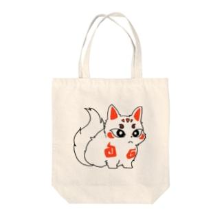 ちび白狐たん Tote bags