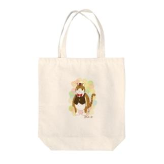 ぽちゃねこ Tote bags