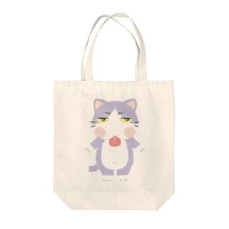 ジトにゃん(ハチワレ) Tote bags