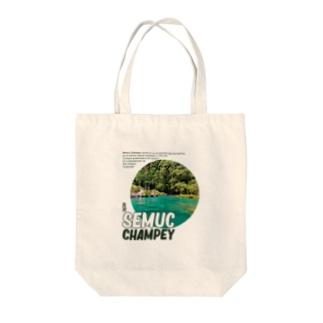 SEMUC CHAMEY  Tote bags