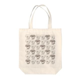 ゆるいぬ (ちょっぴり集合体ver) Tote bags