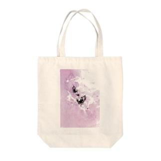 書家/甘雨 墨象[黒揚羽] Tote bags