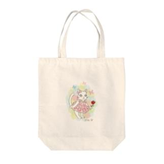 ぷりねこ Tote bags