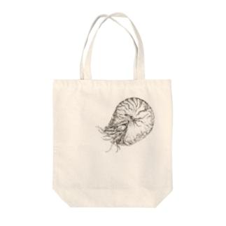 オウムガイ Tote bags