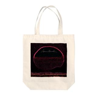 Midnight Sunrise Tote bags