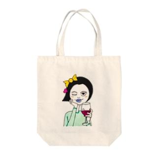 モダンガール Tote bags