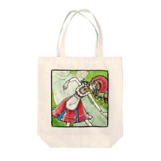 キリキリ舞い Tote bags