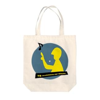 78 revolutions per minute Tote bags