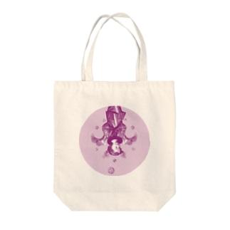 蝙蝠の子-満月ラベンダー (布色変更可)  Tote bags