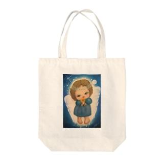 ハッピーを運ぶエンジェルちゃん Tote bags