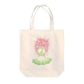 蓮の精 Tote bags